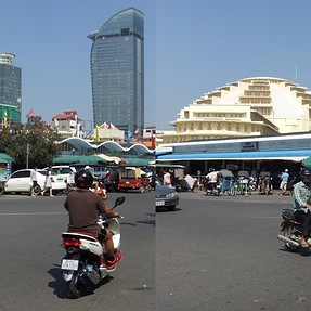 The Central Market in Phnom Pen