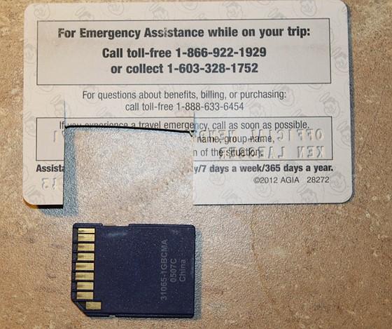 Lost sd card in cd slot imac