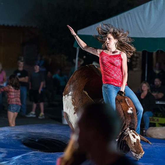 Mechanical Bull Riding Documentary And Street Photography