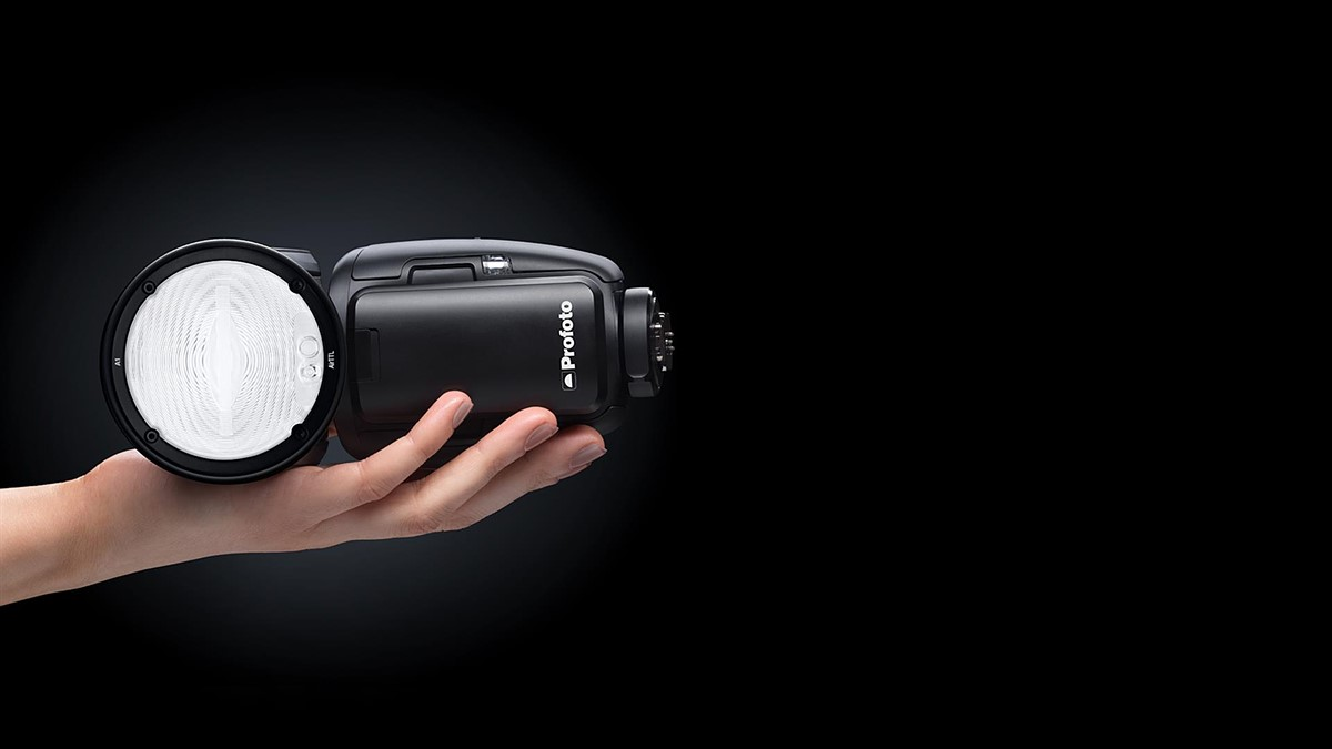 The Profoto A1 is the 'world's smallest studio flash' and