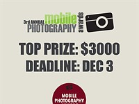 Last chance to enter Mobile Photography Awards