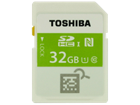 Toshiba announces world's first SDHC card with NFC