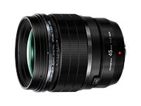 Olympus 45mm and 17mm F1.2 Pro lenses emphasize bokeh quality