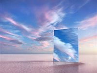 Gaze upon these surreal photos of a mirror and a salt lake