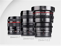 Meike teases three new lenses: 50mm F1.7, 25mm F2.0 and 25mm T2.2