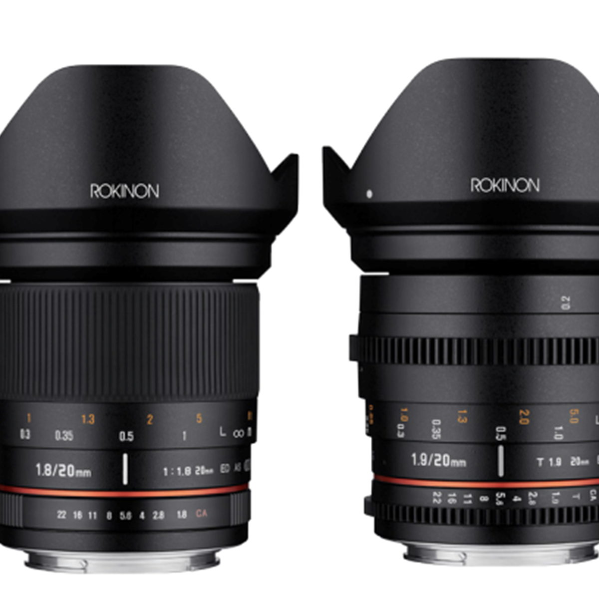 Rokinon 20mm F1.8 and Cine DS 20mm T1.9 Full Frame Super Wide Angle ...