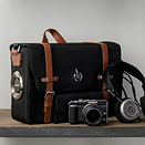 Town 30 Emissary camera bag features lens cap mount and customizable pockets