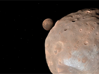 Real 3D images of Mars make up this video of a simulated flight over the red planet
