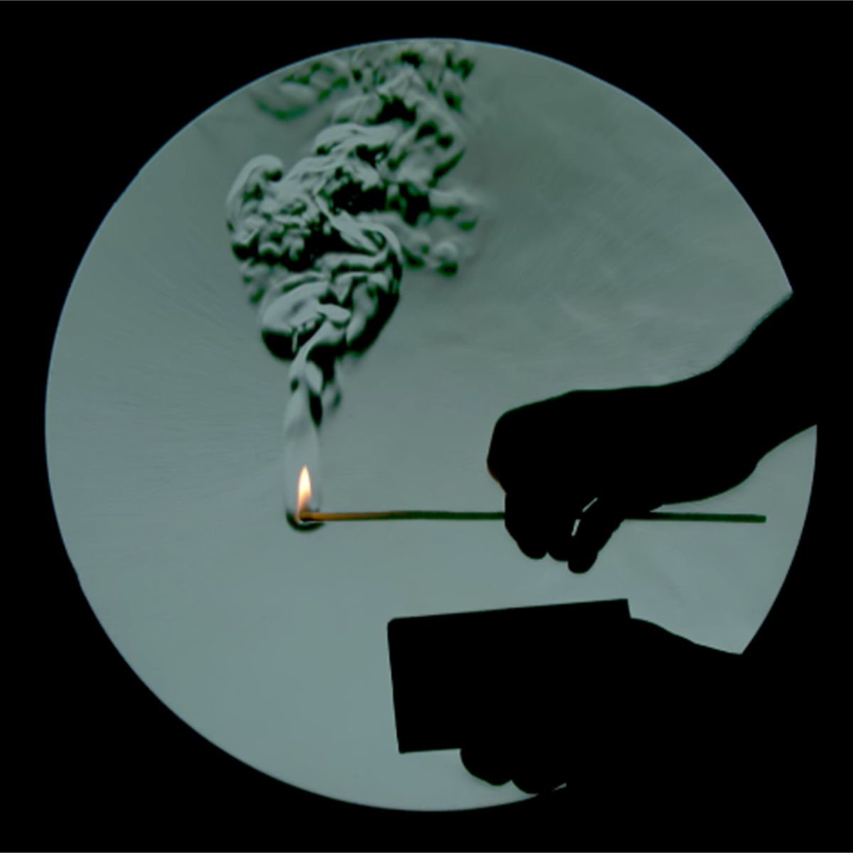 Image result for shadow of candle smoke, schlieren
