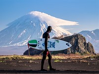 Photographing surfers on Russia's Kamchatka Peninsula