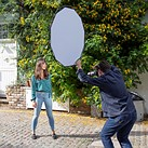 The Lastolite HaloCompact is a new reflector, diffuser with a collapsible design