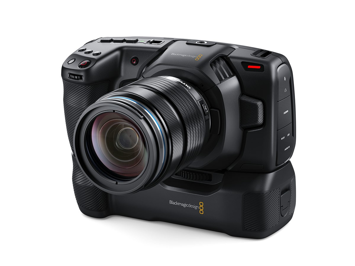 Blackmagic Announces A New Battery Grip For Its Pocket Cinema Camera 4k Digital Photography Review