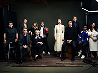 Capturing a group portrait of the cast of Star Wars: The Last Jedi
