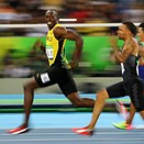 One iconic moment, two viral photos: Rio photographers capture Bolt's smile