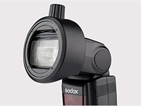 Godox S-R1 adapter lets you fit round magnetic modifiers and filters to regular hotshoe flashes