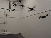 UC Berkeley researchers have created a drone that shrinks to squeeze through small spaces