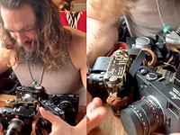 Jason Momoa, AKA Aquaman and Khal Drogo, is quite the Leica camera collector