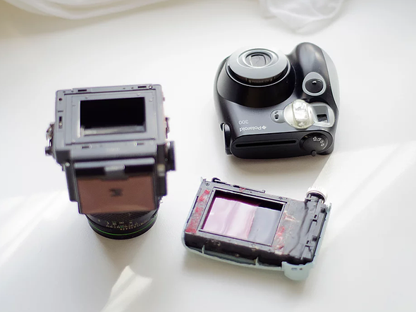 How to hack a Bronica ETRS to shoot Fuji Instax Mini film 1