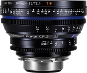 Carl Zeiss announces CP.2 25mm T2.1 fast cinema prime