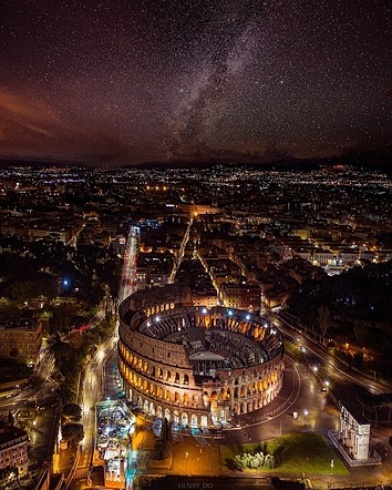 <strong>#Urban2020 Top 50 Finalist: 'Nightscape in Rome' by @henrydo (USA)</strong>