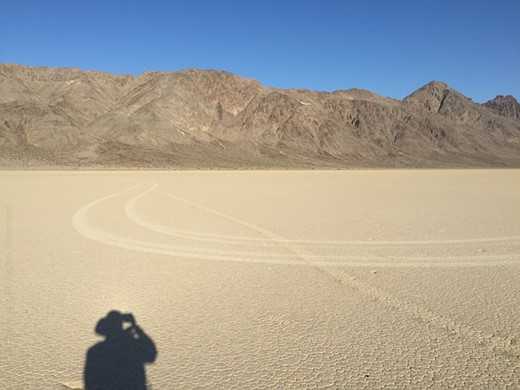 The Racetrack Playa in Death Valley National Park marred by vandals 2