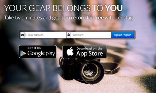 Lenstag helps photographers find stolen lenses and images
