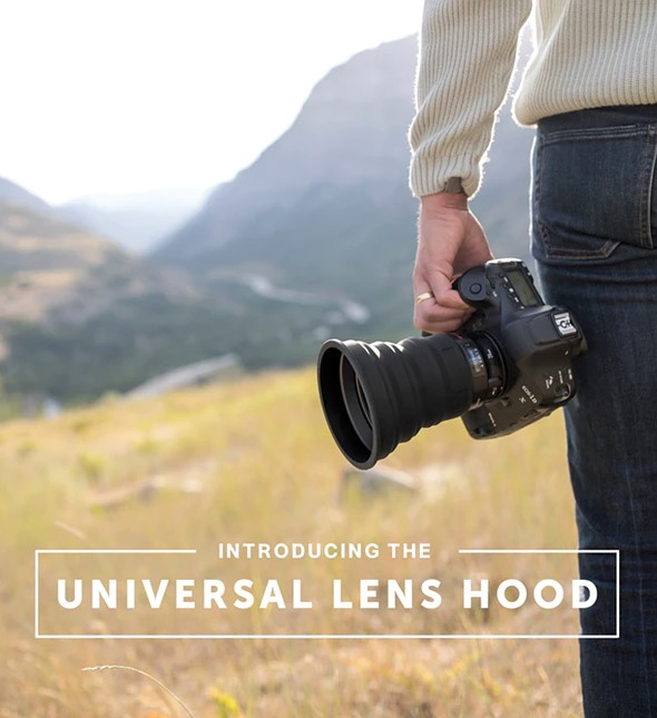 KUVRD's new Universal Lens Hoods claim to fit 99% of lenses