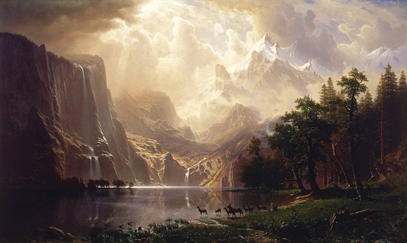 This Is Albert Bierstadts Painting Entitled Among The Sierra Nevada From 1868 As You Can See He Employed Use Of What We Now Call Color Theory To