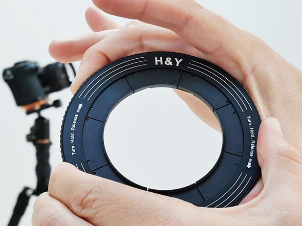 H&Y Revoring variable step-up rings allow filters to fit multiple lens thread sizes