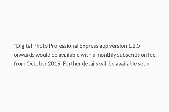 Canon's DPP Express app for iPad will soon require a monthly