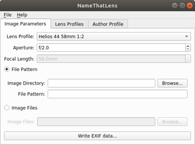 NameThatLens is a cross-platform tool for adding EXIF info