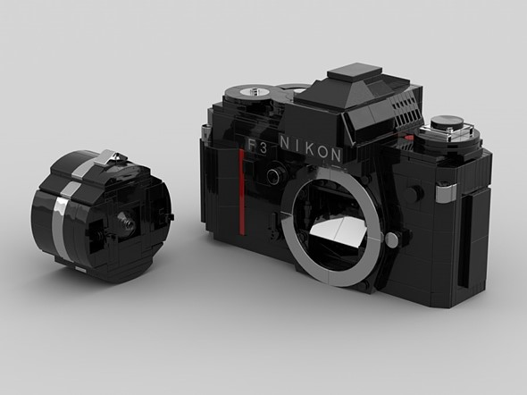 LEGO Ideas design recreates the iconic Nikon F3 out of plastic bricks