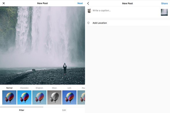 This free app finally lets you post to instagram from your computer the app is able to provide this functionality thanks to a semi recent update to instagram that allows you to post photos from a mobile browser ccuart Choice Image