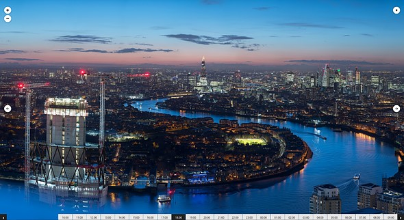This 7.3-gigapixel panorama 'timelapse' of London is made from 6,240 D850 pictures