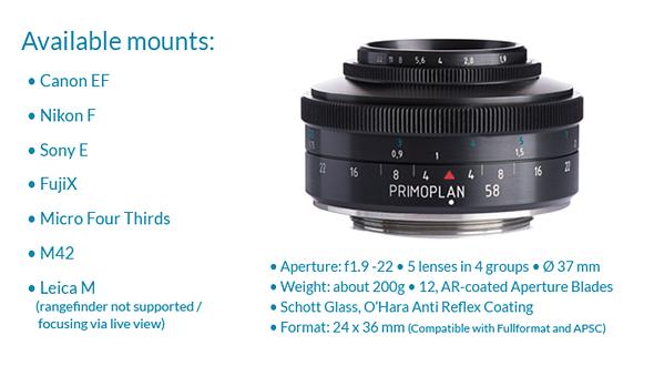 Meyer Optik brings back the Primoplan 58 F1.9 on Kickstarter 2