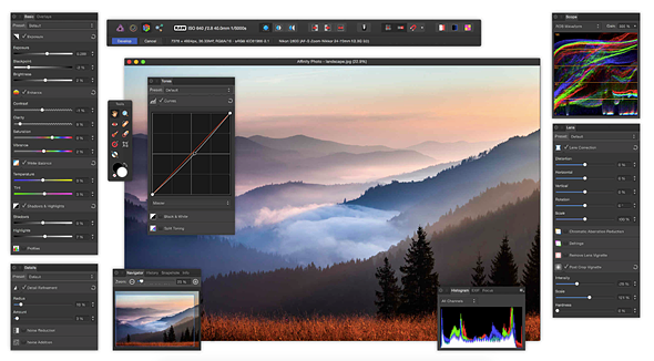 Affinity Photo for Windows now available, Mac version updated to 1.5 1