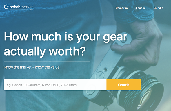 Bokeh Market site tracks used camera market value, offers alerts on price changes 1