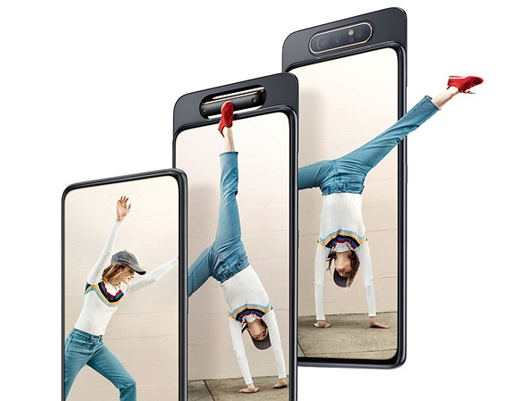 Samsung Galaxy A80 phone unveiled with sliding, rotating triple-camera array
