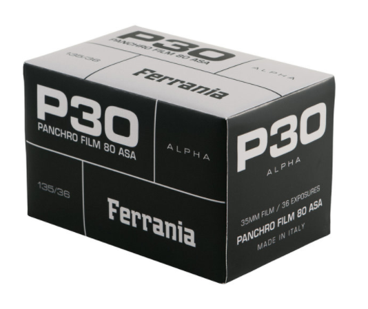 FILM Ferrania P30 black and white film will get a limited 'ALPHA' release