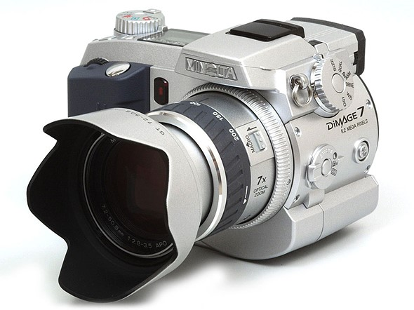 throwback thursday minolta s prosumer dimage 7 digital photography rh dpreview com Minolta SRT 101 Minolta DiMAGE A1