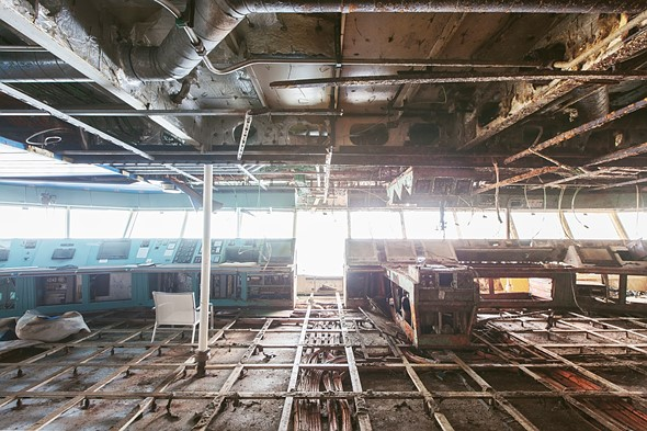 Haunting photos from inside the wrecked cruise ship Costa Concordia 15