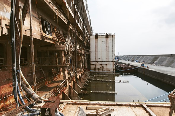 Haunting photos from inside the wrecked cruise ship Costa Concordia 3