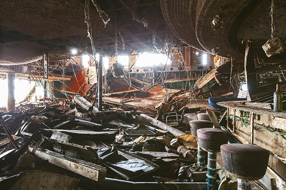 Haunting photos from inside the wrecked cruise ship Costa Concordia 7