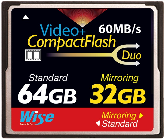 New CompactFlash card to allow RAID-style 'mirroring'