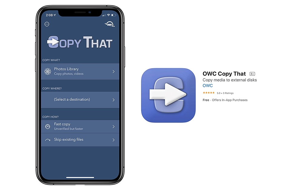 OWC's new Copy That app makes it easy to backup photos from your iPhone, iPad