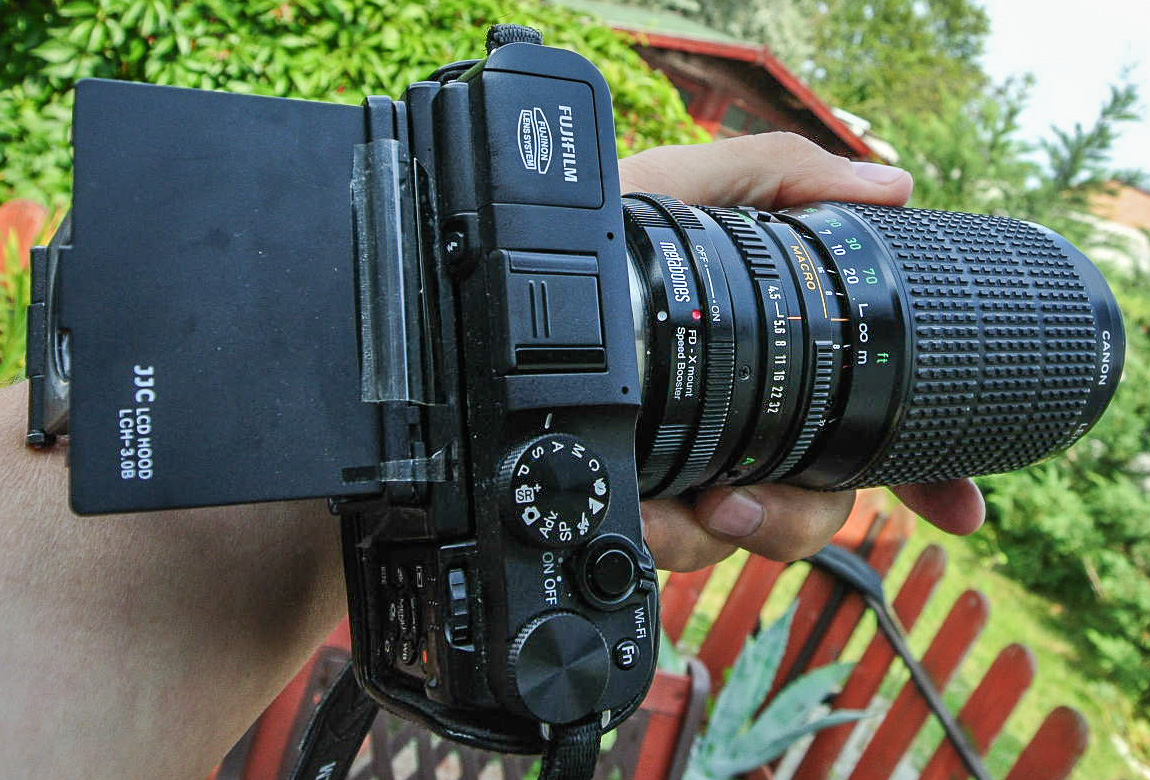 DLeeT: Canon FD 75-200mm/f4 5 push-pull zoom lens on mirrorless