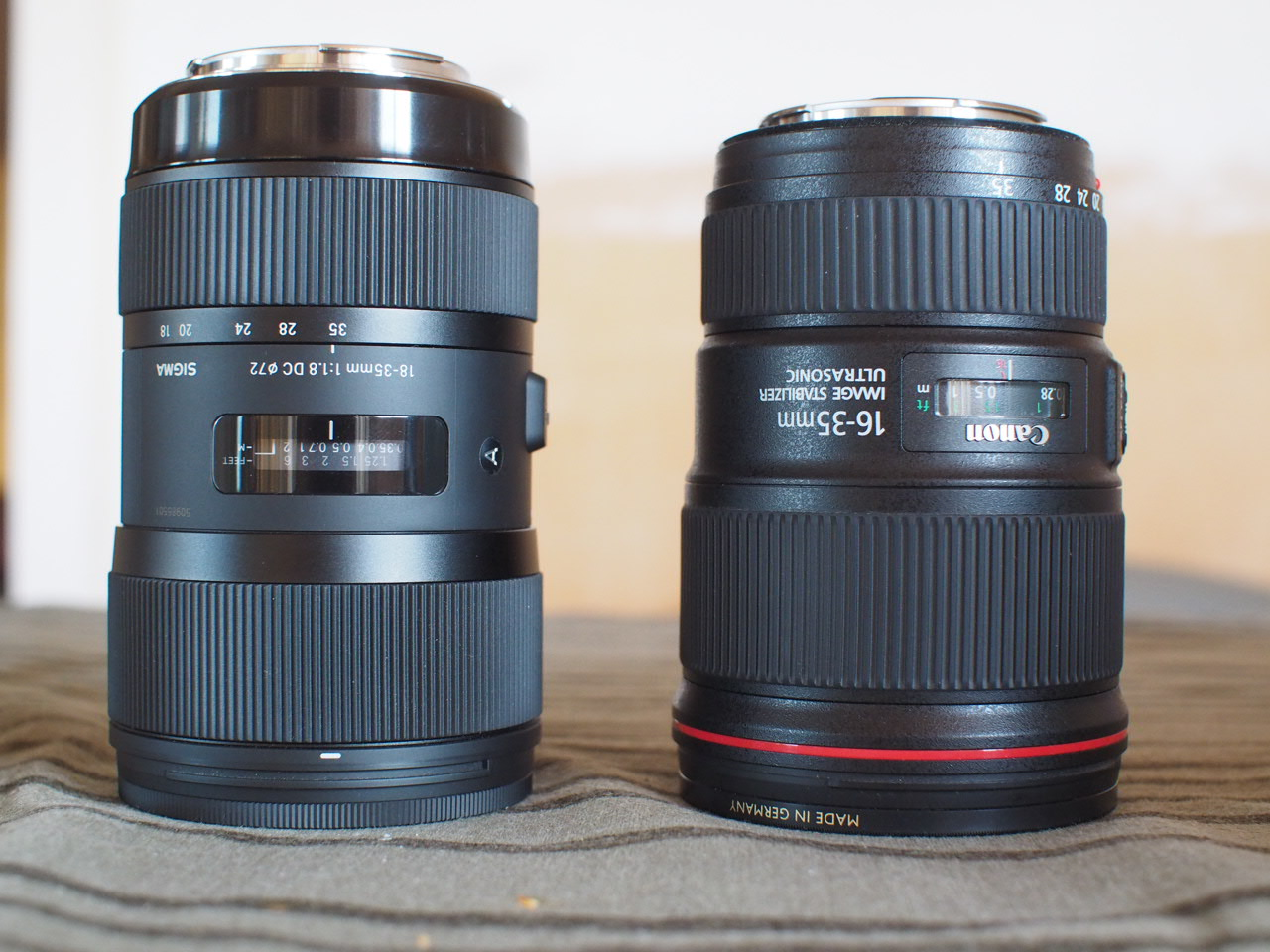 Adapted Sigma DC 18-35mm f1.8 vs adapted Canon 16-35 F4L IS USM both ...