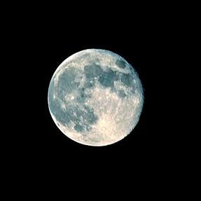 Blue Full Moon with Nikon D5200
