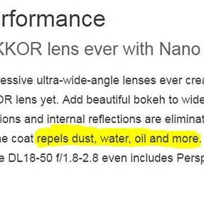 """I Guess UV Filters Are A 'No-No' With The Fluorine coated 1"""" DL Cameras?"""