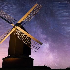 Brill Windmill Milky Way Trails